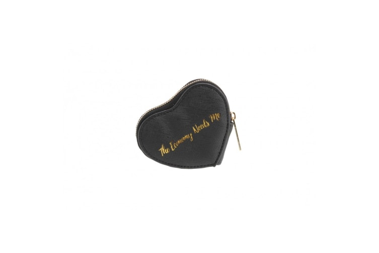 CGB Giftware Willow And Rose The Economy Needs Me Black Heart Coin Purse (Black) (One Size)