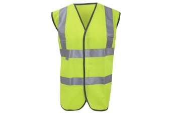 Result Hi-Vis Vest Jacket / Mens Workwear (Hi-Vis Yellow) (L/XL)