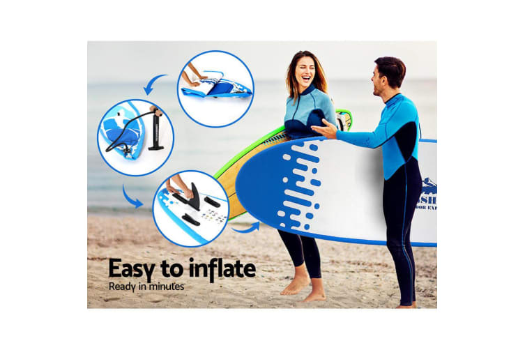 Weisshorn Stand Up Paddle Board 10' Inflatable SUP Paddleboard Surfboards Kayak