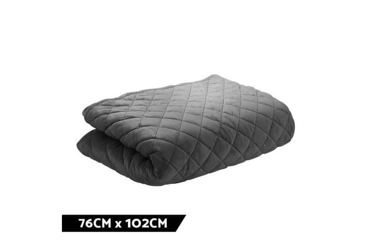 Giselle Bedding Microfibre Weighted Blanket Small Zipper Cover 76cm x 102cm Grey