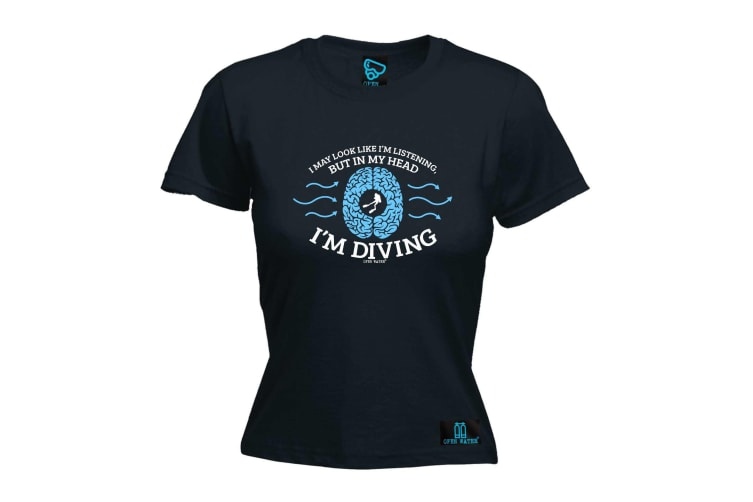 Open Water Scuba Diving Tee - I May Look Like Im - (XX-Large Black Womens T Shirt)