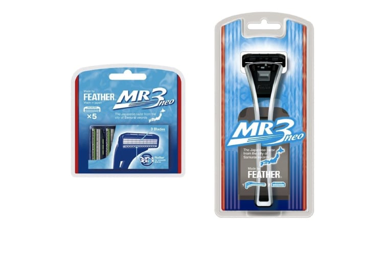 Feather Mr3 Neo Shaving Razor + 5 Extra Cartridges