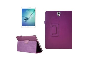 For Samsung Galaxy Tab S3 SM-T810 SM-T815 Case Lychee Protective Leather Purple
