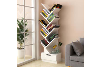 Tree Bookshelf Bookcase Book Organizer 9-Tier Multipurpose Shelf Display Racks