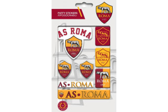 AS Roma Bubble Sticker Set (Yellow/Red)