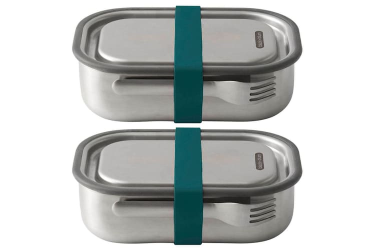 2PK Black + Blum 1L Vacuum Insulated Stainless Steel Lunch Box Container Blue