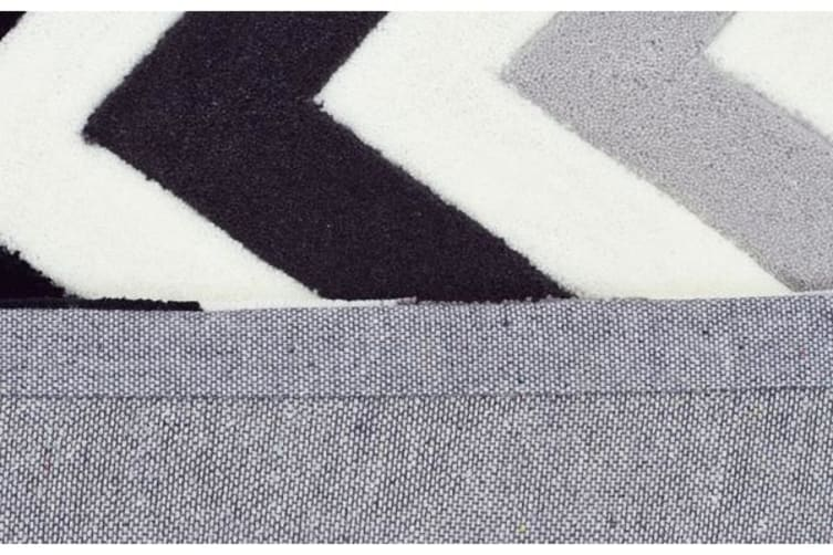 Cross Roads Design Rug Charcoal Grey 165x115cm