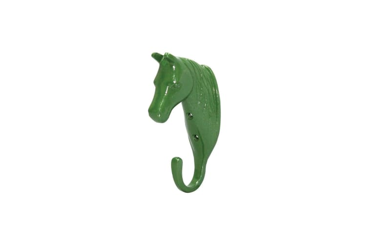 Perry Equestrian Horse Head Single Stable/Wall Hook (Green) (One Size)
