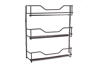 Entree Black 3 Tier Spice Rack Tier Chrome Spice Rack Capacity Storage