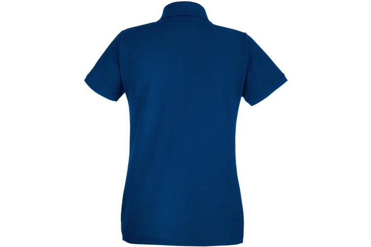 Fruit Of The Loom Womens Lady-Fit 65/35 Short Sleeve Polo Shirt (Navy) (M)