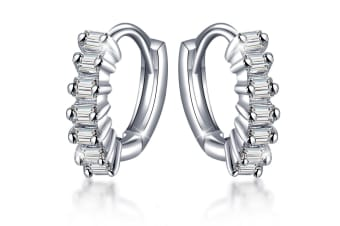 .925 Charming Princess Earrings-Silver/Clear