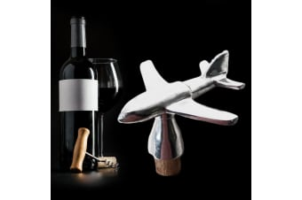 Aeroplane Aircraft Plane Stainless Steel & Cork Wine Bottle Stopper