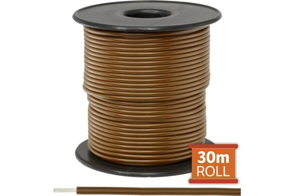 Doss 30M Brown Hookup Wire/Cable