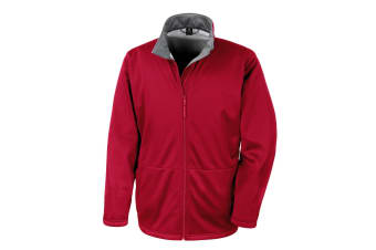 Result Core Mens Soft Shell 3 Layer Waterproof Jacket (Red) (2XL)