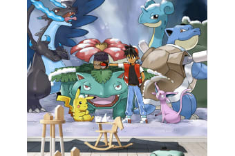 3D Pokemon Monsters 048 Anime Wall Murals Woven paper (need glue), XL 208cm x 146cm (WxH)(82''x58'')