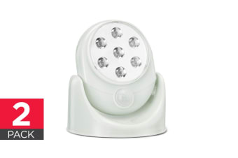 Wall Mounted Motion Sensor Cordless LED Light - 2 Pack