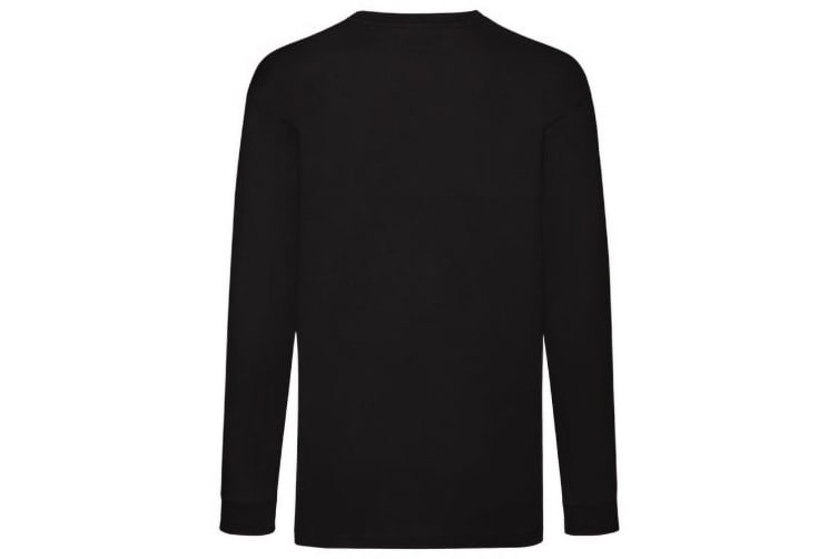 Fruit Of The Loom Childrens/Kids Long Sleeve T-Shirt (Pack of 2) (Black) (7-8)
