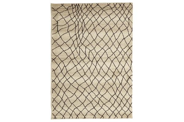 Morrocan Web Design Rug Cream 230x160cm