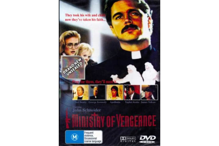 MINISTRY OF VENGEANCE Region 4 Ken Abraham Ned Beatty Brodie Greer - Preowned DVD: DISC LIKE NEW