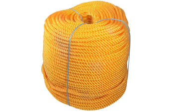 Orange Polyethylene Rope 6mmx200m Coil Boating/Fishing Lobster/Crab Pot Bouyant