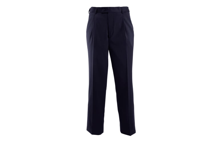 Alexandra Mens Icona Single Pleat Formal Work Suit Trousers (Navy) (42T)