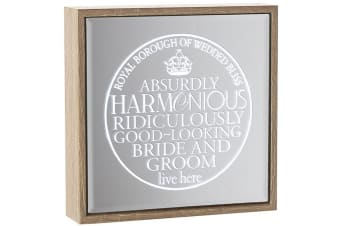 Wedding Mirror Light Up Frame (Wood/Mirror) (One Size)