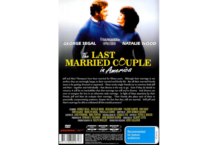 The Last Married Couple in America -Comedy Region 4 Rare- Aus Stock Preowned DVD: DISC LIKE NEW