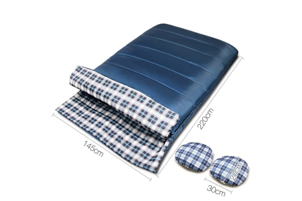 Camping Double Sleeping Bag -15 to 10 (Navy)