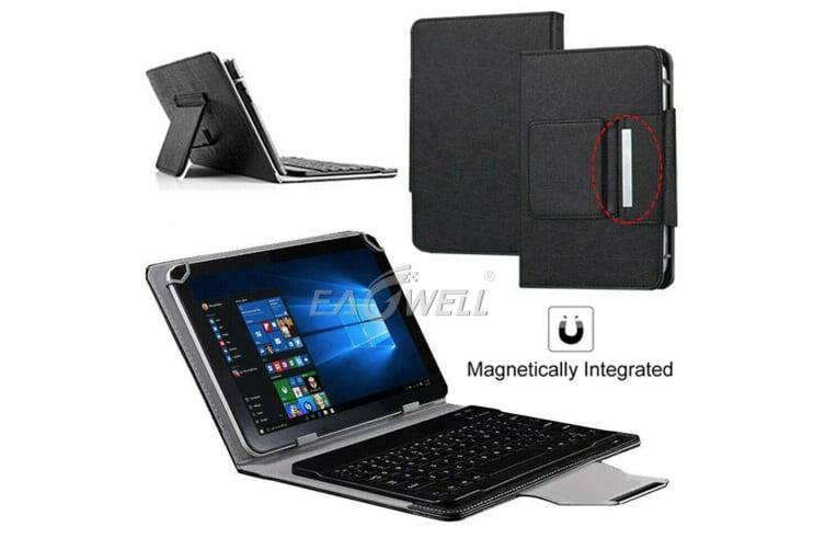 For Samsung Galaxy Tab A 8.0 2019 T290 Tablet Stand Case Bluetooth Keyboard Cover-Black