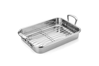 Scanpan Impact Roasting Pan Small With Rack 35cm x 26cm