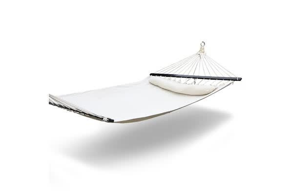 Gardeon Hammock Double Swing Bed with Hanging Kit (Cream)