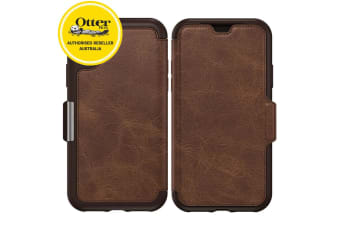 Otterbox Strada Folio Leather Case for iPhone X/Xs Wallet Card Slot Espresso