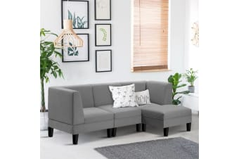 Artiss Modular Sofa Lounge Set 4 Seater Chaise Chair Suite Corner Couch Fabric