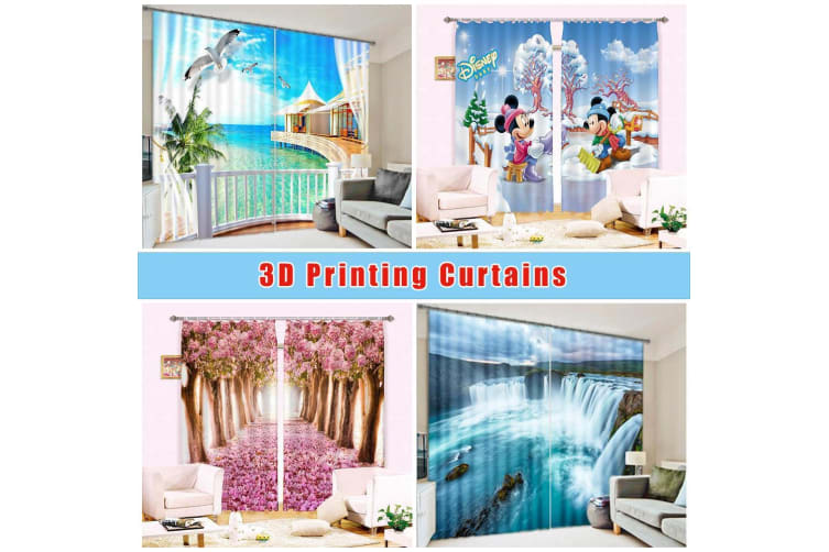 3D Roadside Trees Rows 191 Curtains Drapes, 264cmx213cm(WxH) 104''x 83''