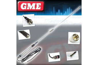 GME AE4012K120 UHF CB RADIO ANTENNA 6.6DBi FOR MIRROR MOUNT STAINLESS STEEL NEW