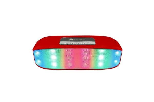 Bluetooth V2.1+Edr Wireless Speaker Led Party Light Portable Usb Tf Red