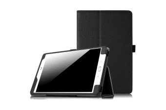 "Samsung Galaxy Tab A 7.0"" Folio Flip PU Leather Stand Case Smart Cover by MEZON (SM-T280, T285, Black)"