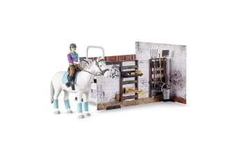 Bruder B World Horse Barn Stable Set Kids Toys 4y+ Children Animal/Figurines
