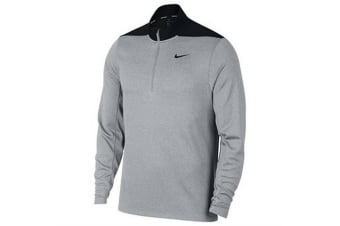 Nike Mens Dry Half Zip Golf Top (Wolf Grey/ Pure Platinum/ Black/ Black)