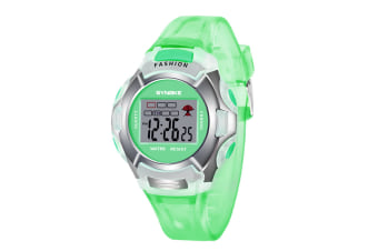 Children'S Watch Nightlight Waterproof Sports Electronic Watch Green