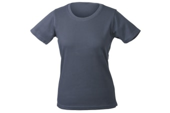 James and Nicholson Womens/Ladies Function Tee (Carbon Grey) (XXL)