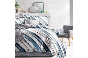 Giselle Bedding Quilt Cover Set Queen Bed Doona Duvet Reversible Sets Stripe Pattern