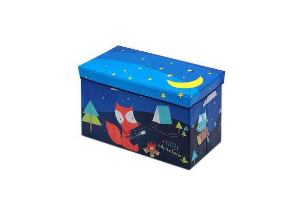 Kids Foldable Storage Toy Box (Blue)