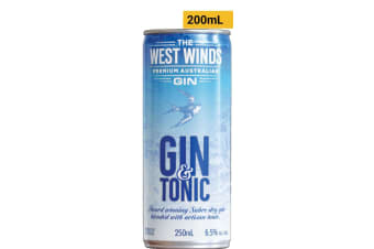 The West Winds Gin Gin And Tonic 250mL Case of 24