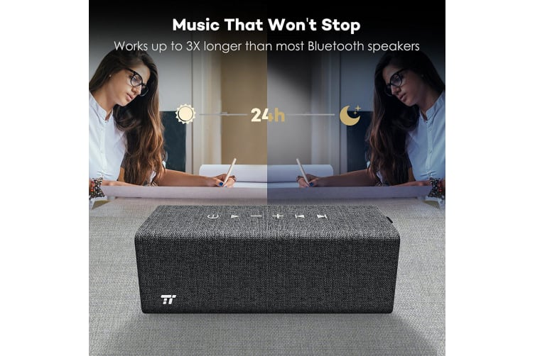 TaoTronics SK12 Wireless Bluetooth Speaker Portable Audio Rock Stereo Music NEW