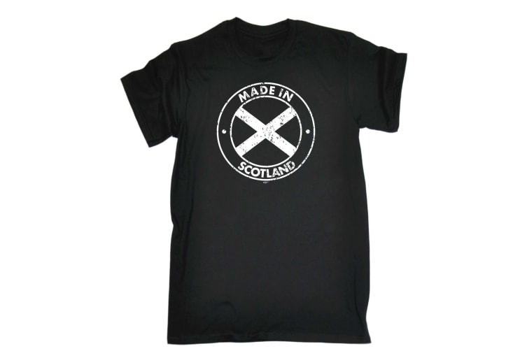 123T Funny Tee - Made In Scotland - (4X-Large Black Mens T Shirt)