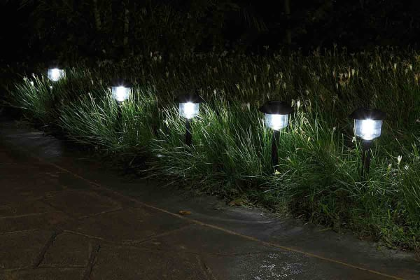 Kogan 10 Pack Solar Garden Path Lights (Cylindrical)