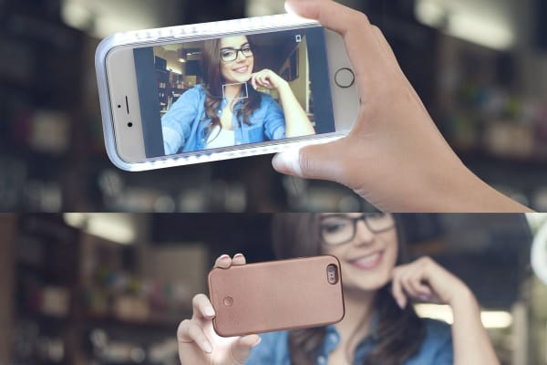 Selfie Case for iPhone 6/6s Plus with Power Bank (Rose Gold)