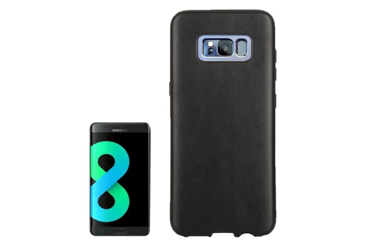 For Samsung Galaxy S8 PLUS Case Stylish Horse Texture Slim Leather Cover Black