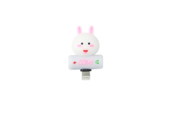 Cartoon Audio Charging 2-In-1 Adapter For Iphone - 15